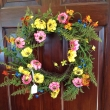 Open the Door to Color! Artificial Wreath