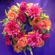 Bright and Bold Artificial Wreath
