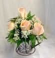 Rustic Chic Rose Arrangement