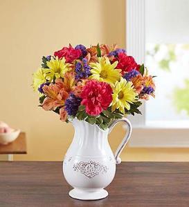 BLM Pitcher Perfect Flower Arrangement
