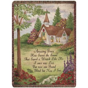 Amazing Grace Tapestry Afghan