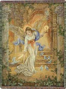 Angel Of Light Tapestry Afghan