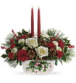 Tel Halls of Holly Centerpiece