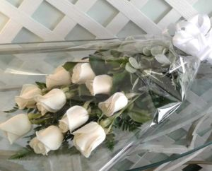 Mrs Flowers Dozen Roses Gift Wrapped Boquet