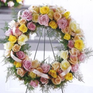 Mrs Flowers Blessed Assurance Wreath