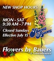 9:30 AM - 7 PM Mon - Sat New Shop Hours