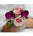 Pink Rose and Purple Orchid Corsage