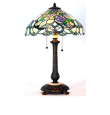 Floral Love Tiffany Table Lamp