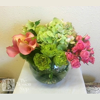 The blossom shop green and pink bowl charlotte nc 28203 ftd green and pink bowl mightylinksfo
