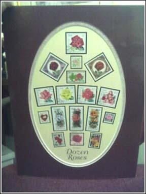 One Dozen Roses Stamp Art by Jack Rabbit Studio Inc.