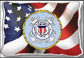 United States Coast Guard Flag Pillow