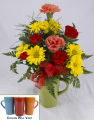 Colorful Mug Arrangement