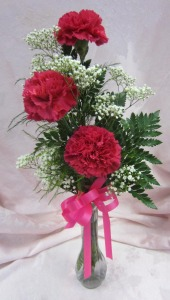 Triple Carnation Bud Vase