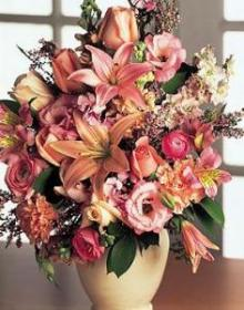 Victorian Pastels Vase
