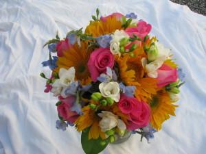 Mixed Color Bridal Bouqet