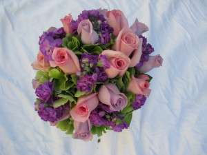 Pink and Lavender Bridal Bouqet
