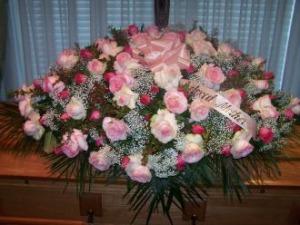 Pequa Pinks Casket Cover