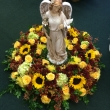 Pequa Urn Arrangement With Angel