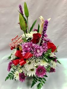 Pequa Valentine\'s Day Pastels Basket Arrangement 2