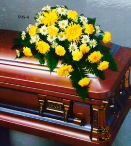 sympathy casket spray