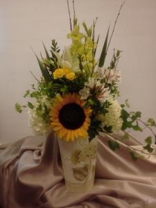 French Summer Flower Bucket
