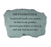 Grandmother - No farewell words... Stone