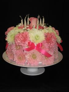 Images Of Birthday Cake With Bouquets : Francis Florist Birthday Cake Bouquet Pomeroy, OH, 45769 ...