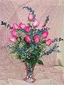 Dozen Deluxe Roses Vased