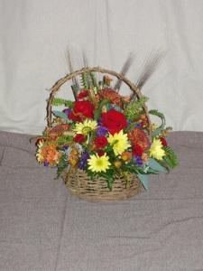 Sympathy Arrangement - Wicker Basket 3
