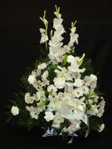 Sympathy Funeral Basket - 11 White