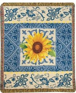 Throw - Indigo Sunflower