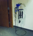 Wind Chime - Metal Easel Chime with Silks