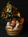 Gourmet Fruit and Flower Basket