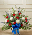 Red, White & Blue Sympathy Basket