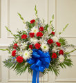 Red, White & Blue Sympathy Standing Basket