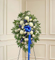 Blue & White Sympathy Standing