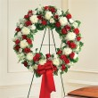 Red & White Standing Wreath
