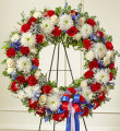 Serene Blessings Patriotic Wreath