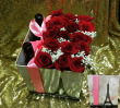 European Style Boxed Roses & Wine