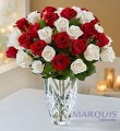 Crystal Peppermint Rose Bouquet
