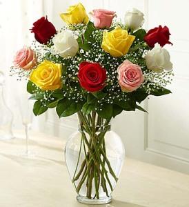 Long Stem Assorted Roses