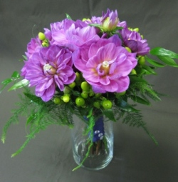 Lavender Dahlia Bridesmaid Bouquet