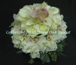 Orchids and Calla Lily Bridal Bouquet