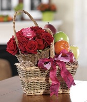 The Roses and Fruit Basket