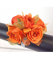 Orange Crush Wrist Corsage