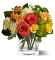 Citrus Splash Rose Bouquet
