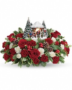 Thomas Kinkade\'s Jolly Santa Bouquet
