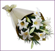 White Lily Wrapped Bouquet