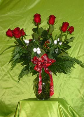 The Bel-Aire Holiday Rose bouquet