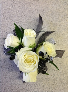 Bel Aire White Spray Rose Corsage